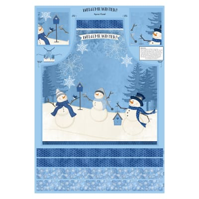 "Wilmington Welcome Winter! Apron 30"" Panel Multi"
