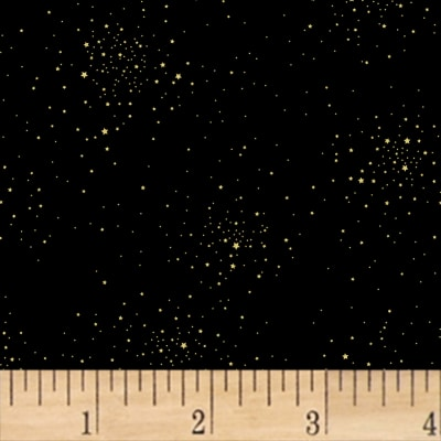 Hoffman Sparkle & Fade Tiny Stars Metallic Black/Gold