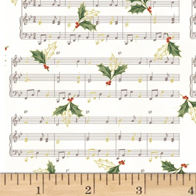 Hoffman Cardinal Carols Sheet Music Metallic Natural/Gold