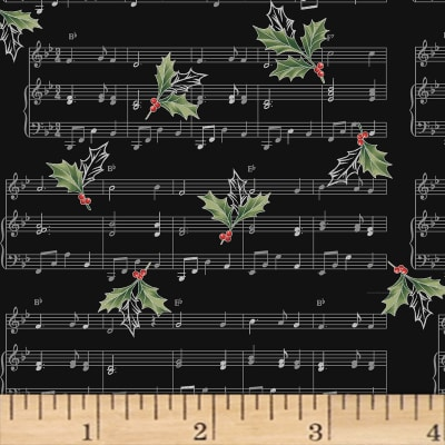 Hoffman Cardinal Carols Sheet Music Metallic Onyx/Silver