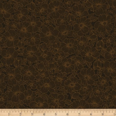 Cinnamon Toast III Floral Brown