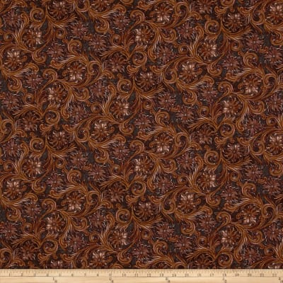 Hoffman Digital Wide Open Spaces Embossed Leather Scroll Brown