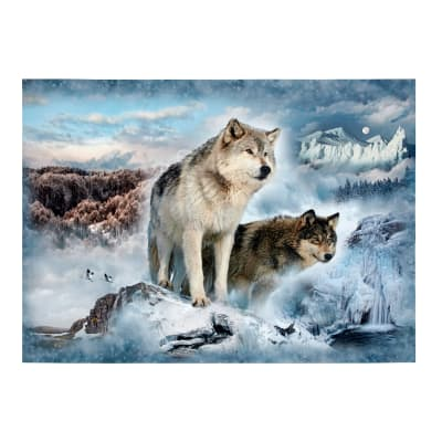 "Hoffman Digital Call Of The Wild Wolf 33""Panel Glacier"