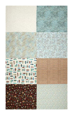 "Hoffman Digital All A Twitter Fat Quarter Multi Print 72""Panel Sprout"