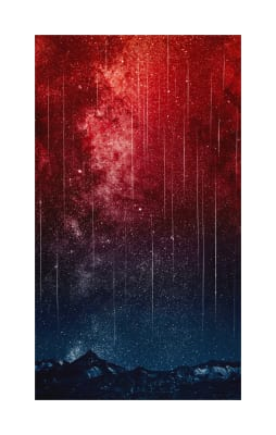"Hoffman Digital Out Of This World 24.5"" Panel Falling Stars Canyon"