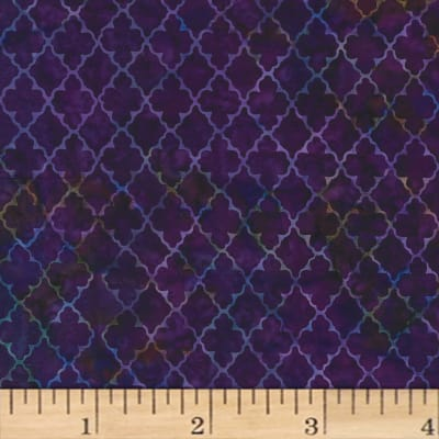 Hoffman Bali Batiks Quatrefoil New Grape