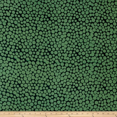 Hoffman Me+You Indah Batiks Large Dots Stone Green
