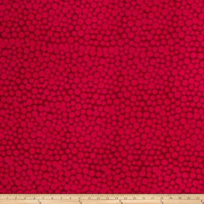 Hoffman Me+You Indah Batiks Large Dots Pomegranate