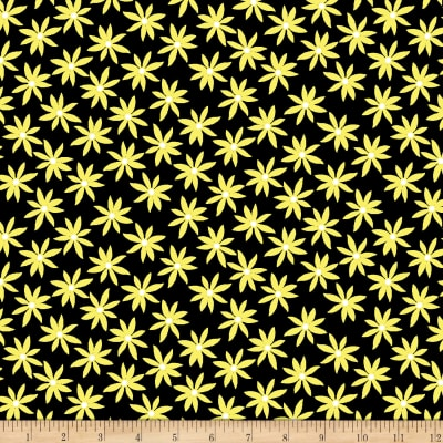 Kanvas Lemon Twist Daisy Dot Black/Lemon