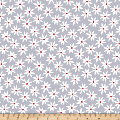 Kanvas Cherry Twist Daisy Dot Gray/Cherry