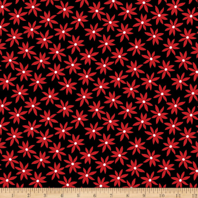 Kanvas Cherry Twist Daisy Dot Black/Cherry