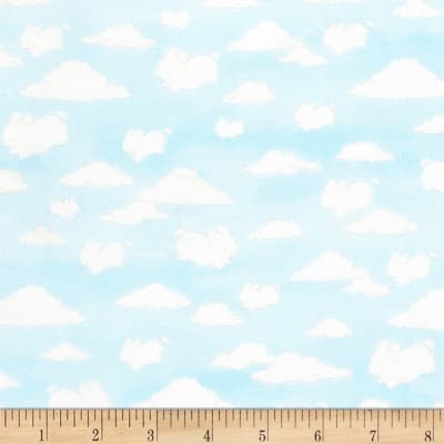 Timeless Treasures Flannel Cotton Tale Farm Cloud Animals Sky