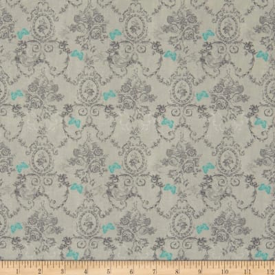 Stof France Le Quilt Belle Epoque Flowers and Butterflies Grey