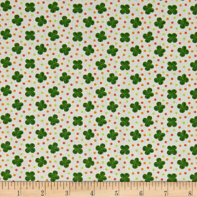 Stof France Le Quilt Petits Lapins Clovers Green