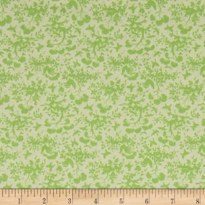 Stof France Le Quilt Petits Lapins Floral Green