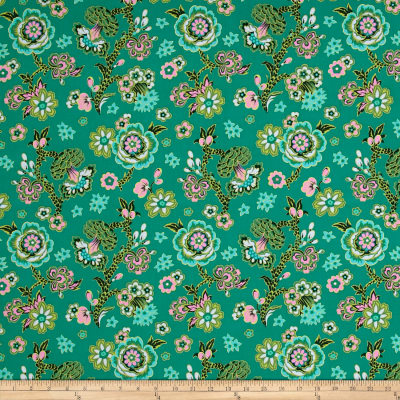 Amy Butler Night Music Midnight Bloom Teal