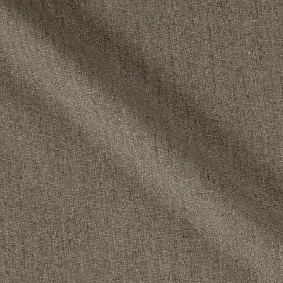 100% European Medium Weight Linen Dark Natural