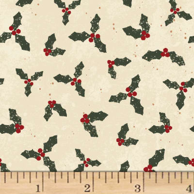 Home For Christmas Mistletoe Light Khaki