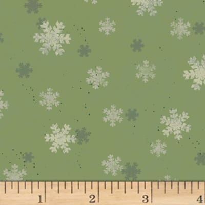 Home For Christmas Snowflakes Olive