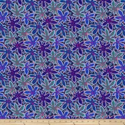 Kaffe Fassett Collective Lacy Leaf Blue