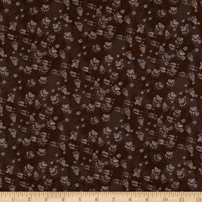 Open Sky Paw Prints Dark Brown