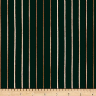 Telio Colorado Poly Faille Print Stripe Dark Green