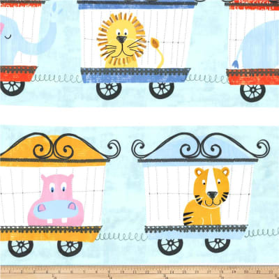 Michael Miller Minky Animal Parade Animal Parade Multi