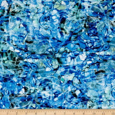 Glacier Rain Water Digital Blue