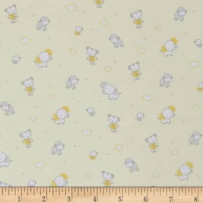 Les Enfantes Flannel Small Animals Yellow