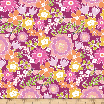 Contempo Front Porch Summer Floral Pink