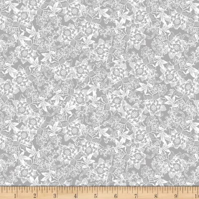Kanvas I Thee Wed French Lace Grey Metallic