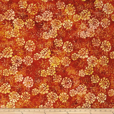 Anthology Batiks Blooming Flower Cayenne