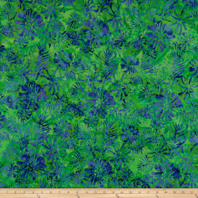 Anthology Batiks Flower Breeze Green