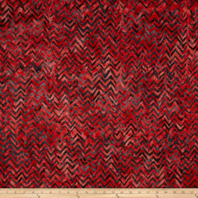 Anthology Batiks Chevron Red