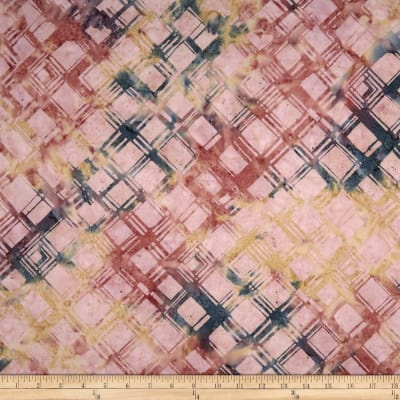 Anthology Batiks Criss-Cross Plaid Cotton Candy