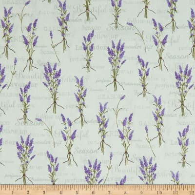 Stof Lavender Story Words & Flowers Mint