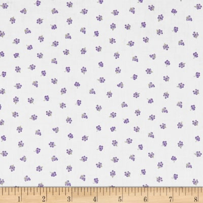 Stof Lavender Story Tiny Flowers Purple/White
