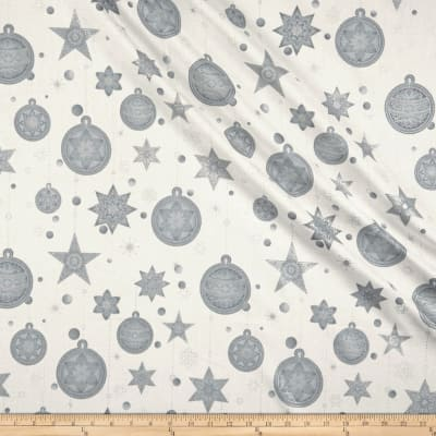 Stof Amazing Stars Ornaments & Stars Metallic Silver/White