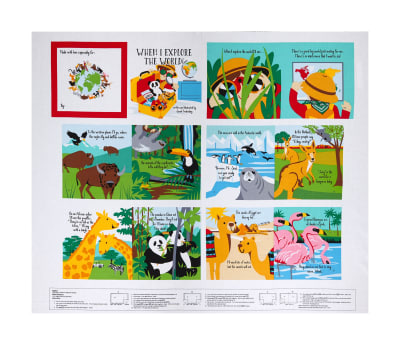 "Little Explorers 36"" Book Panel Multi"