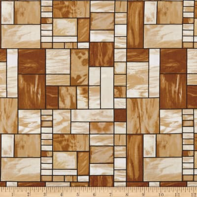 Mosaic Forest Stained Glass Brown