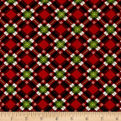 Christmas Village Plaid Red