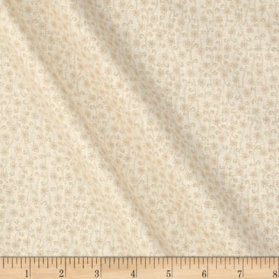 Apple Cider 16 Flower Scroll Stripe White