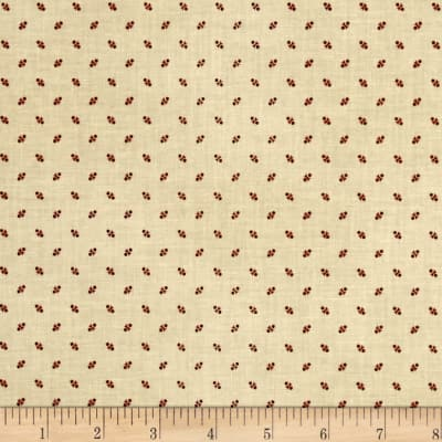 St. Louis Collection Dots Tan/Wine