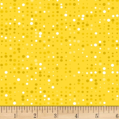 Stof Colour Fun Dots Yellow