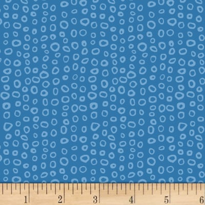 Stof Dot Mania Small Circles Blue