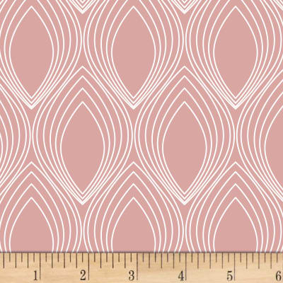 Stof Fabrics Denmark Duo Retro Shapes Light Pink