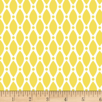 Stof Duo Retro Shapes Yellow