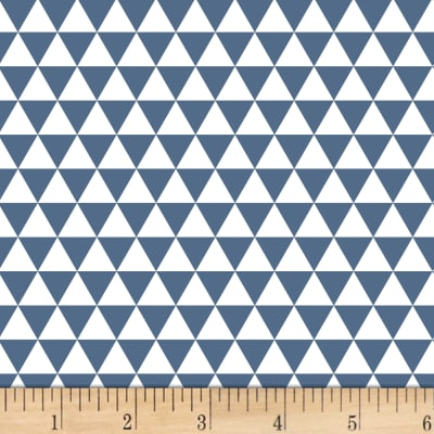 Stof Fabrics Denmark Duo Mini Triangles Blue