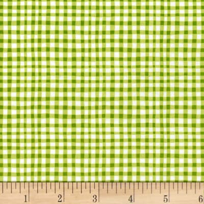 Michael Miller Gingham Play Gingham Play Asparagus