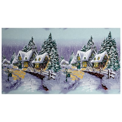 "Michael Miller Snow Chateau Snow Chateau 24"" Panel Winter"